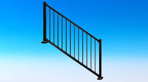 Prefabricated Aluminum Stairs by Tuscany Stair Rail Section Kits By Westbury Aluminum Railing Youtube