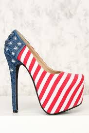 American Flag With Yellow Fringe American Flag High Heels American Flag High Heels Cheap