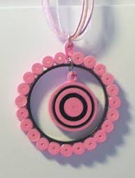 quilling earrings set let s create pink and black circle quilling jewelry set
