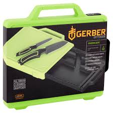 gerber freescape camp kitchen kit with cutting board sharpener