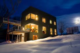 Winter House Passive House In The Woods