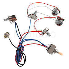 electric guitar wiring harness kit 2v2t pot jack 3 way forguitar