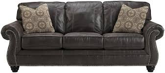 Nailhead Sleeper Sofa Benchcraft Breville Faux Leather Sofa Sleeper With Rolled