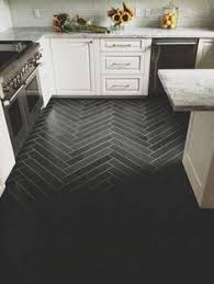 Tile Floor Kitchen Love Wood Tile In A Herringbone Pattern Such A Great Look And So