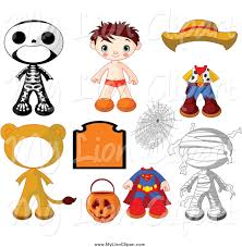 kid halloween clipart royalty free stock lion designs of kids