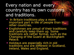 презентация traditions and customs of great britain