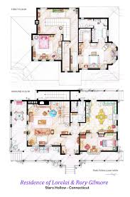 these are the floorplans of lorelai u0026 rory gilmore u0027s house in