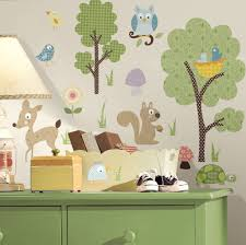 forest woodland animals wall decals stickers for kids room or nursery
