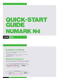 numark n4 quickstart guide for serato dj disc jockey usb