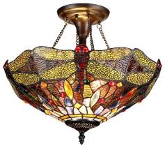 Stained Glass Ceiling Light Most Popular Flush Mount Ceiling Lights With A Stained Glass Shade