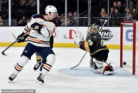 karlsson gets 30th goal of season vegas tops oilers 4 1 daily