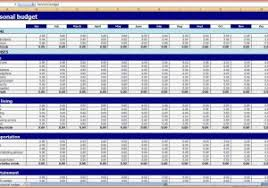 budget xls monthly expenses template accounting sheets for small