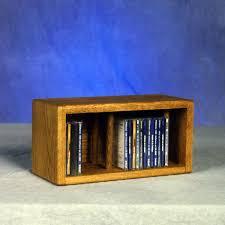 Oak Dvd Storage Cabinet Solid Oak Desktop Or Shelf Cd Cabinet
