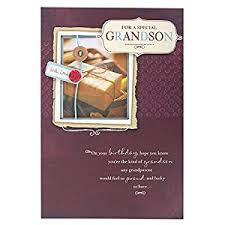 hallmark birthday card for grandson pride and large