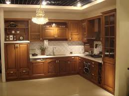 charming brown oak wood color china kitchen cabinets with white