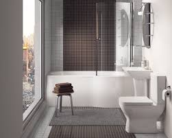 Modern Bathroom Shower Bathroom Modern Bathroom With Drop In Bathtub Shower Polished