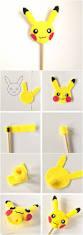pikachu pokemon felt pencil topper diy cute kids craft for back
