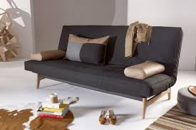 Sofa Beds Sectionals Functional Futon Sofa Bed Matt Black Steel Frame Oak
