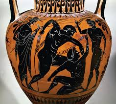 Ancient Greek Vase Painting Warfare Classical Wisdom Weekly