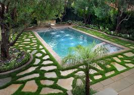 Fake Grass For Patio Fake Grass For Dogs Pool Mediterranean With Backyard Diving Board