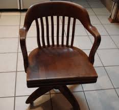 antique wood office chair swivel desk parts chairs cukeriada co