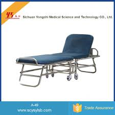 alibaba economical folding hospital accompanying recliner bed