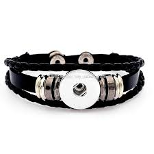 leather bracelet with charms images Classic noosa chunks snap charm bracelet trendy snap button jpg