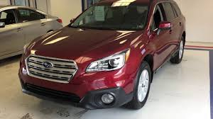 2017 subaru outback 2 5i limited red 2017 subaru outback premium venetian red sz264838 youtube
