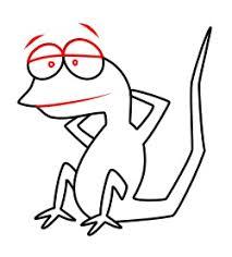 drawing cartoon lizard