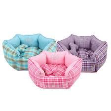 Kong Dog Beds Pink Plaid Purple Plaid Aqua Plaid Dog Beds