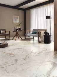 Carrara Marble Floor Tile Calacatta White Gloss Floor Tiles Have An Attractive Marble Effect