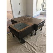 Wooden Coffee Table Industrial Wooden Coffee Table Aptdeco