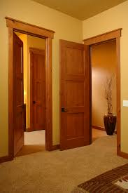 Interior Door Styles For Homes by Craftsmen In Honey Interior Door Square Top Rail 3 Panel Plank