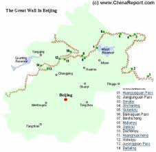 China Map Cities by Great Wall Of China In Beijing City Province Locations Map By
