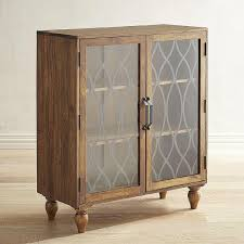 Wooden Cabinet With Glass Doors Glass Ogee Patterned Doors Wood Cabinet