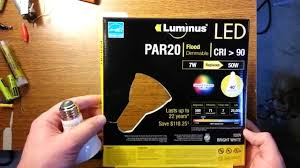 Par20 Led Light Bulbs by Luminus Par20 Led Review And Installation Youtube