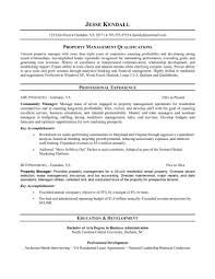 Resume Section Headings Property Management Resume Free Resume Example And Writing Download