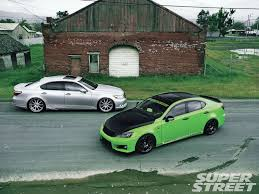 lexus green 2008 lexus is f and 2007 lexus ls460 work hard ball harder