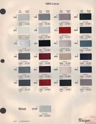 lexus paint chart color reference