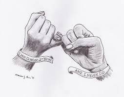 drawn love friendship pencil and in color drawn love friendship