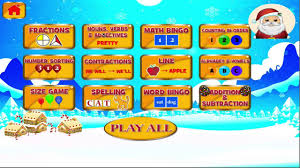 christmas u0027 first grade learning games for kids youtube
