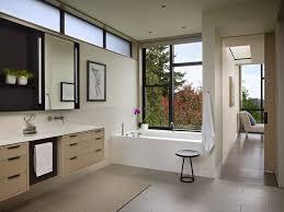 Modern Bathroom Windows Kohler Archer Tub Bathroom Modern With Ribbon Window Master Bath