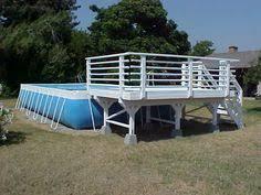 easy above ground pool decks building above ground pool decks