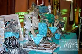 33 blue theme party candy table ideas blue baby shower footprint