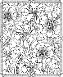 printable coloring pages of pretty flowers hard adult flower coloring pages printable 3086 adult flower