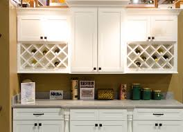 Cinnamon Shaker Kitchen Cabinets by White Shaker Kitchen Cabinets With Double Wine Racks Kitchen