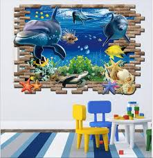 home decor 3d stickers 3d cartoon finding dory wall stickers home decor 3d marine