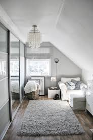 Gray And White Bedroom Goood Use Of A Small Room I Like That It U0027s Not Overdone Gray And