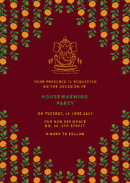 Housewarming Invitation Cards India Online Invitation Card Designs Invites
