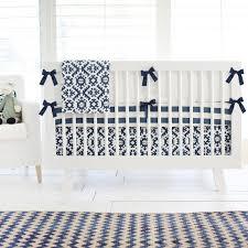 navy aztec crib bedding set rosenberryrooms com
